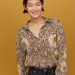 Morris co H&M collection limited ed blouse shirt